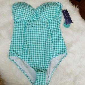 Lauren James One Piece Gingham Swimsuit